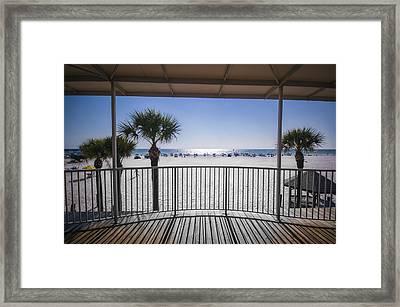 Beach Patio Framed Print by Carolyn Marshall