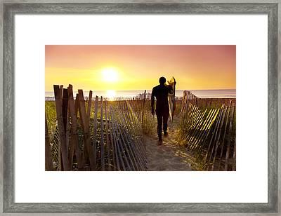 Beach Picket Fences Framed Print by Sean Davey