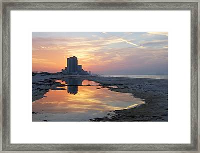Beach Reflections Framed Print by Michael Thomas