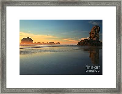 Beach Rudder Framed Print by Adam Jewell