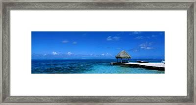 Beach Scene Bora Bora Island Polynesia Framed Print by Panoramic Images