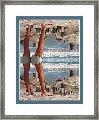 Beach Scene Framed Print by Betsy C Knapp