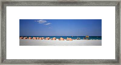 Beach Scene, Miami, Florida, Usa Framed Print by Panoramic Images