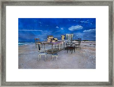 Beach Scholar  Framed Print by Betsy C Knapp