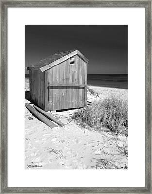 Beach Shed Framed Print by Michelle Wiarda