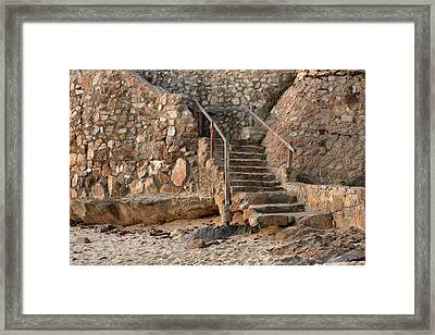 Beach Stairs Framed Print by Art Block Collections