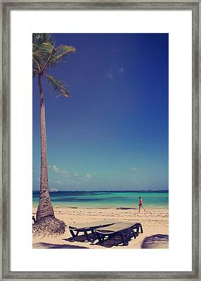 Beach Stroll Framed Print by Laurie Search