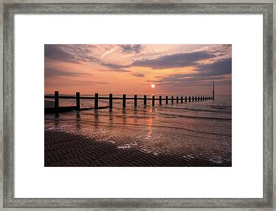 Beach Sunset Framed Print by Ian Mitchell