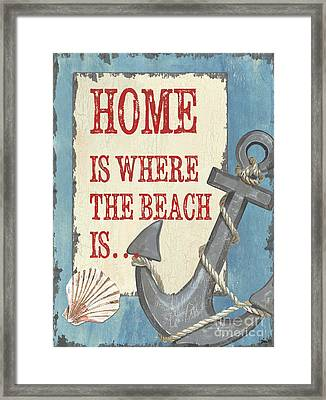 Beach Time 2 Framed Print by Debbie DeWitt