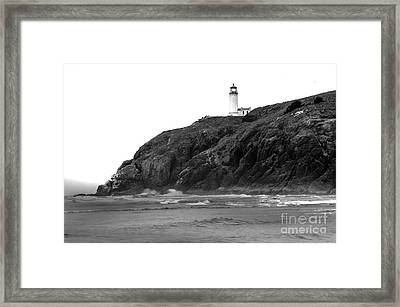 Beach View Of North Head Lighthouse Framed Print by Robert Bales