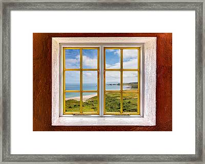 Beach View Framed Print by Semmick Photo