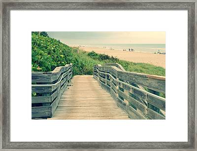 Beach Walk Framed Print by Laura Fasulo