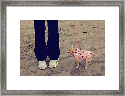 Beach Walk Framed Print by Laurie Search