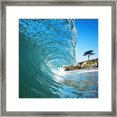 Beach Wave Framed Print by Paul Topp