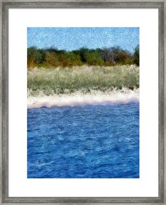 Beach With Short Dune Framed Print by Michelle Calkins