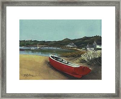 Beached Boat Framed Print by Diane Strain