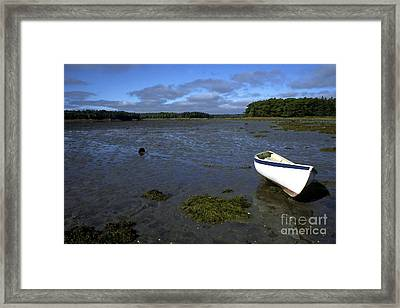 Beached Fishing Boat Framed Print by Thomas R Fletcher