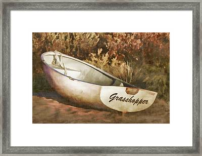 Beached Rowboat Framed Print by Carol Leigh