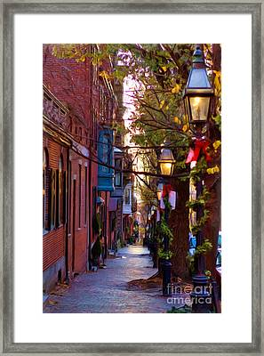 Beacon Hill Streets Framed Print by Joann Vitali