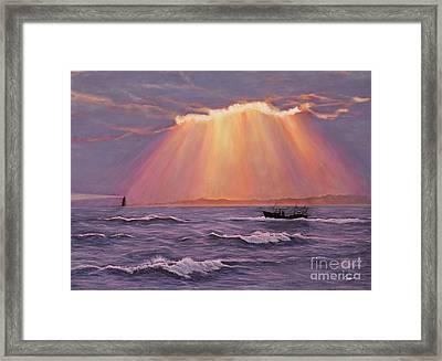Beacons Of Light Framed Print by Cindy Lee Longhini