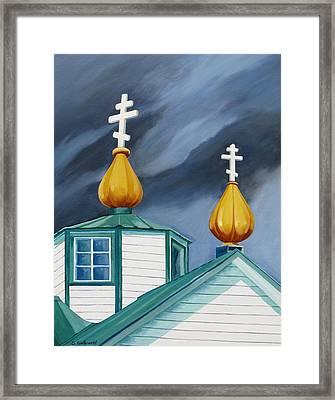Beacons Framed Print by Shirley Galbrecht