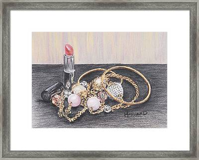 Beads And Bangles Framed Print by Lucy Hayward