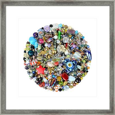 Beads And Charms Framed Print by Jim Hughes
