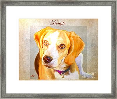 Beagle Art Framed Print by Iain McDonald