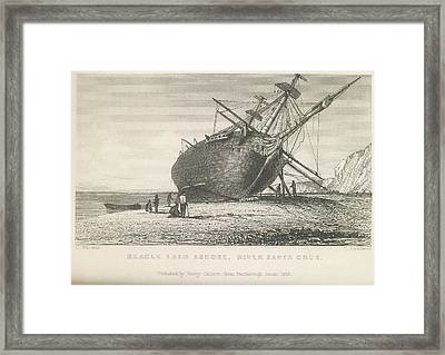 Beagle Laid Ashore Framed Print by British Library
