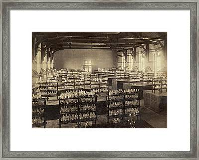 Beakers And Bottles Framed Print by Underwood Archives
