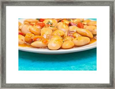 Bean Salad Framed Print by Tom Gowanlock