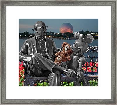 Bear And His Mentors Walt Disney World 05 Framed Print by Thomas Woolworth