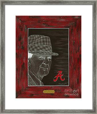 Bear Bryant Framed Print by Herb Strobino