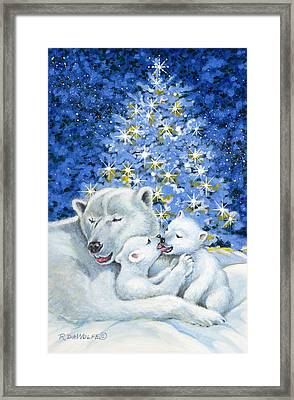 Bear Hug Framed Print by Richard De Wolfe