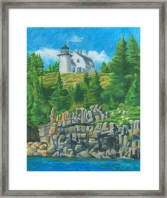 Bear Island Lighthouse Framed Print by Dominic White