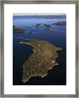 Bear Island, Penobscot Bay Framed Print by Dave Cleaveland