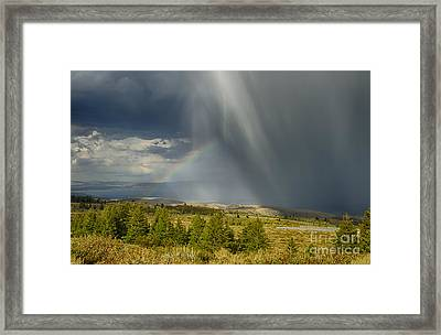 Bear Lake Storm Framed Print by Idaho Scenic Images Linda Lantzy