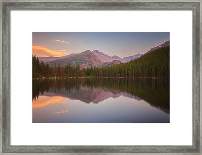 Bear Lake Sunset Reflections Framed Print by Darren  White