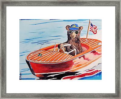Bearboat Framed Print by LeAnne Sowa