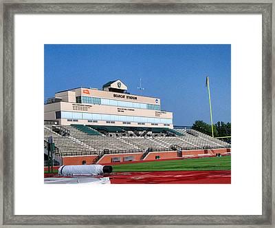 Bearcat Stadium Framed Print by Georgia Fowler