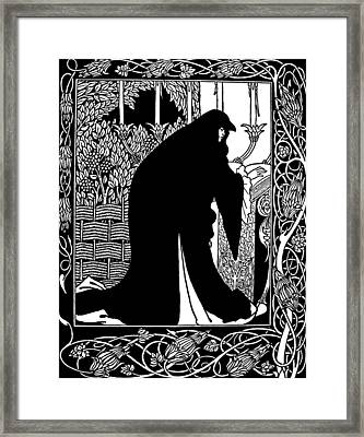 Beardsley Guinevere Framed Print by Granger