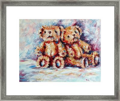 Bears Framed Print by Kovacs Anna Brigitta