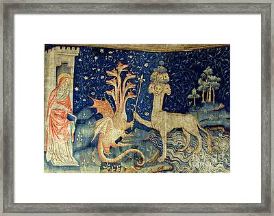 Beasts Of The Apocalypse Tapestry Framed Print by Photo Researchers