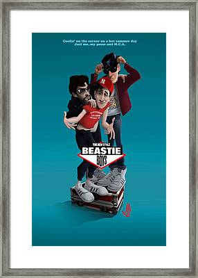 Beatie Boys_the New Style 2 Framed Print by Nelson Dedos Garcia
