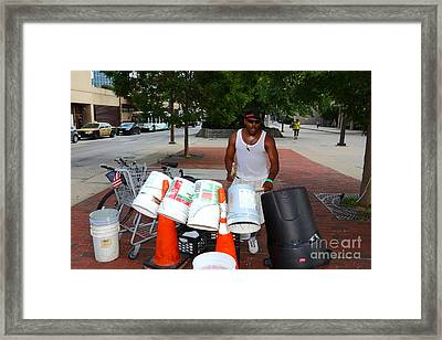 Beating The Recession Framed Print by James Brunker