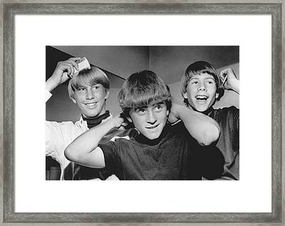 Beatle Haircuts Get Reprieve Framed Print by Underwood Archives
