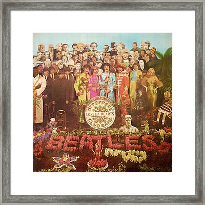 Beatles Lonely Hearts Club Band Framed Print by Gina Dsgn