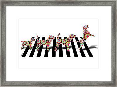 Beatles Dogs Framed Print by Mark Ashkenazi