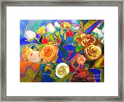 Beatles Flowers Abstract Framed Print by Eunice Broderick