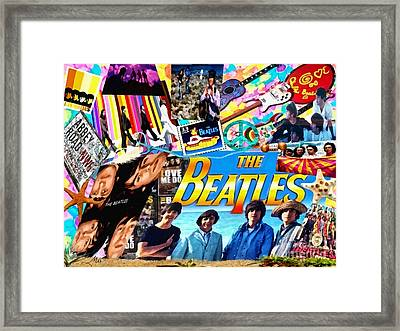 Beatles For Summer Framed Print by Mo T